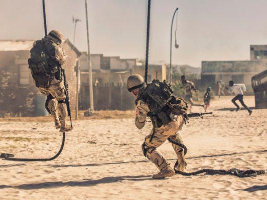 Taskforce begins assault. (Photo credit: National Geographic Channels/Charlie Sperring)