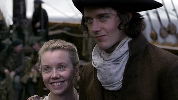 Lauren Lyle as Marsali and Caesar Domboy as Fergus